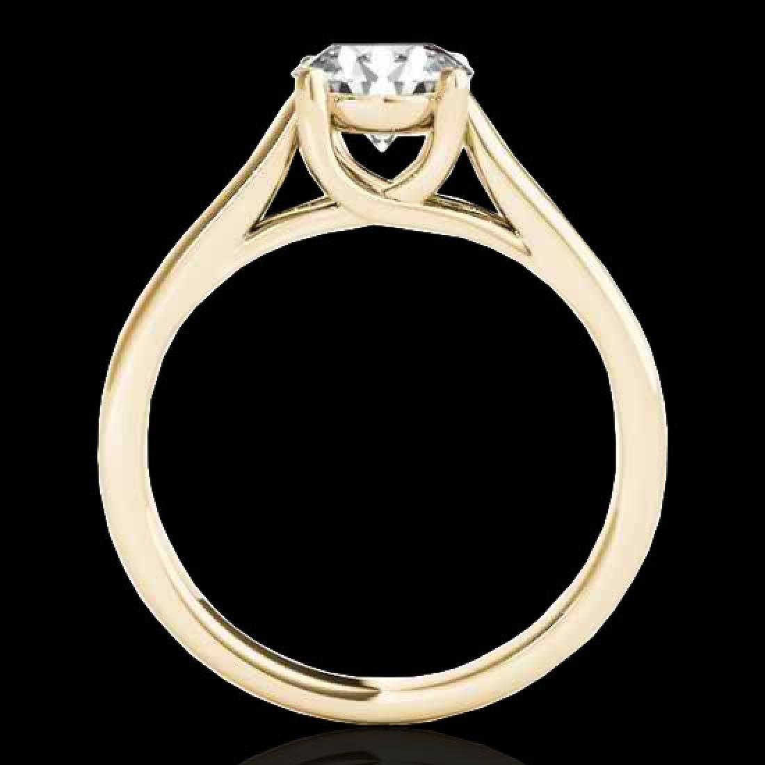 1 CTW H-SI/I Certified Diamond Solitaire Ring 10K - 2