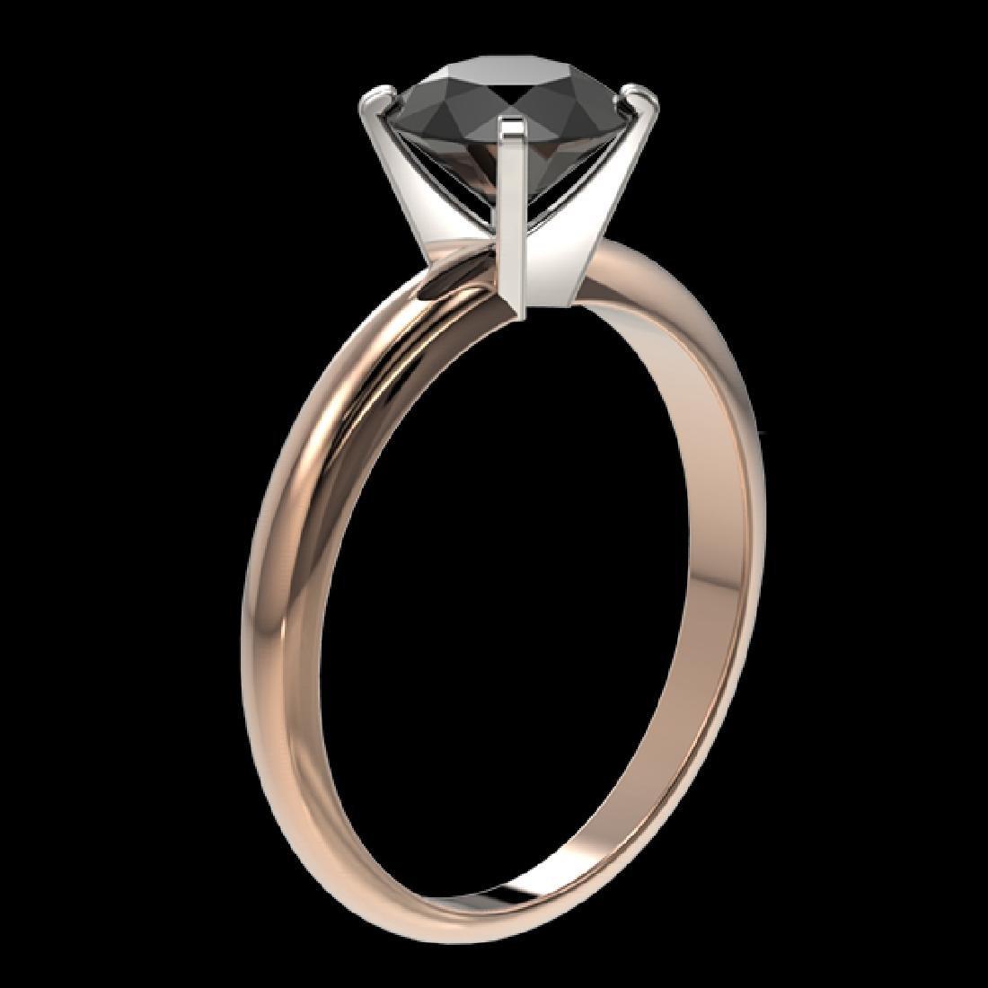 1.50 CTW Fancy Black VS Diamond Solitaire Engagement - 3