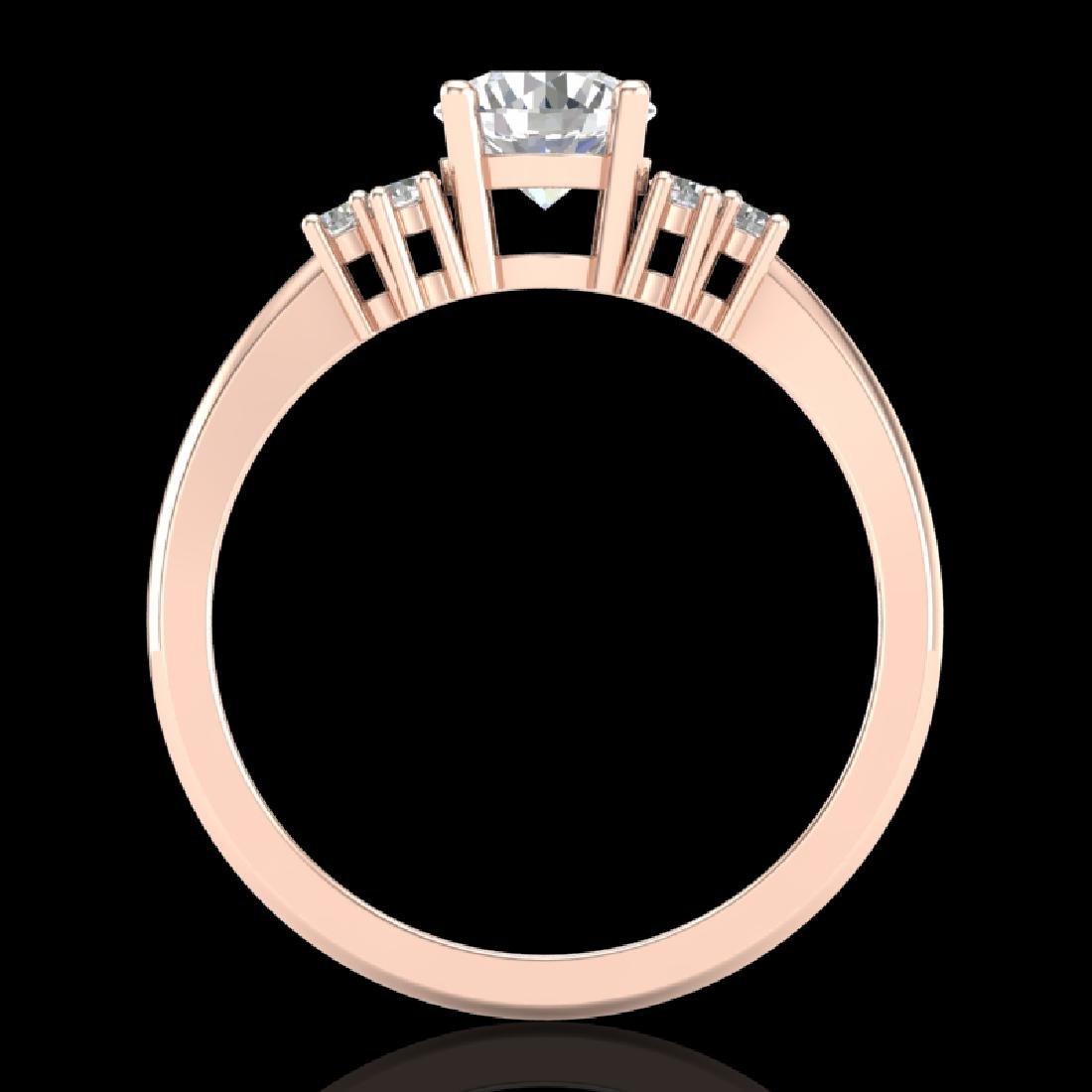1 CTW VS/SI Diamond Ring Size 7 18K Rose Gold - 2