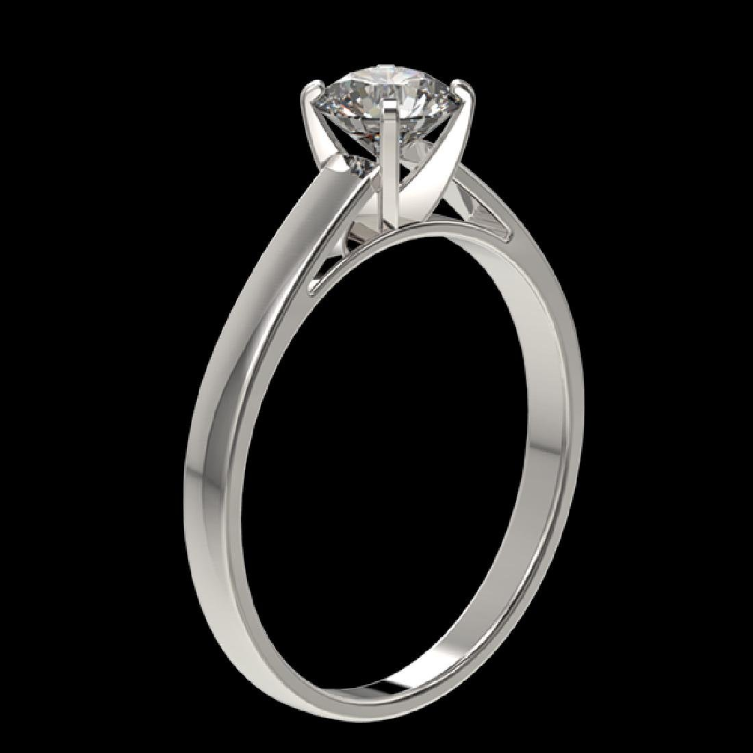 0.73 CTW Certified H-SI/I Quality Diamond Solitaire - 3