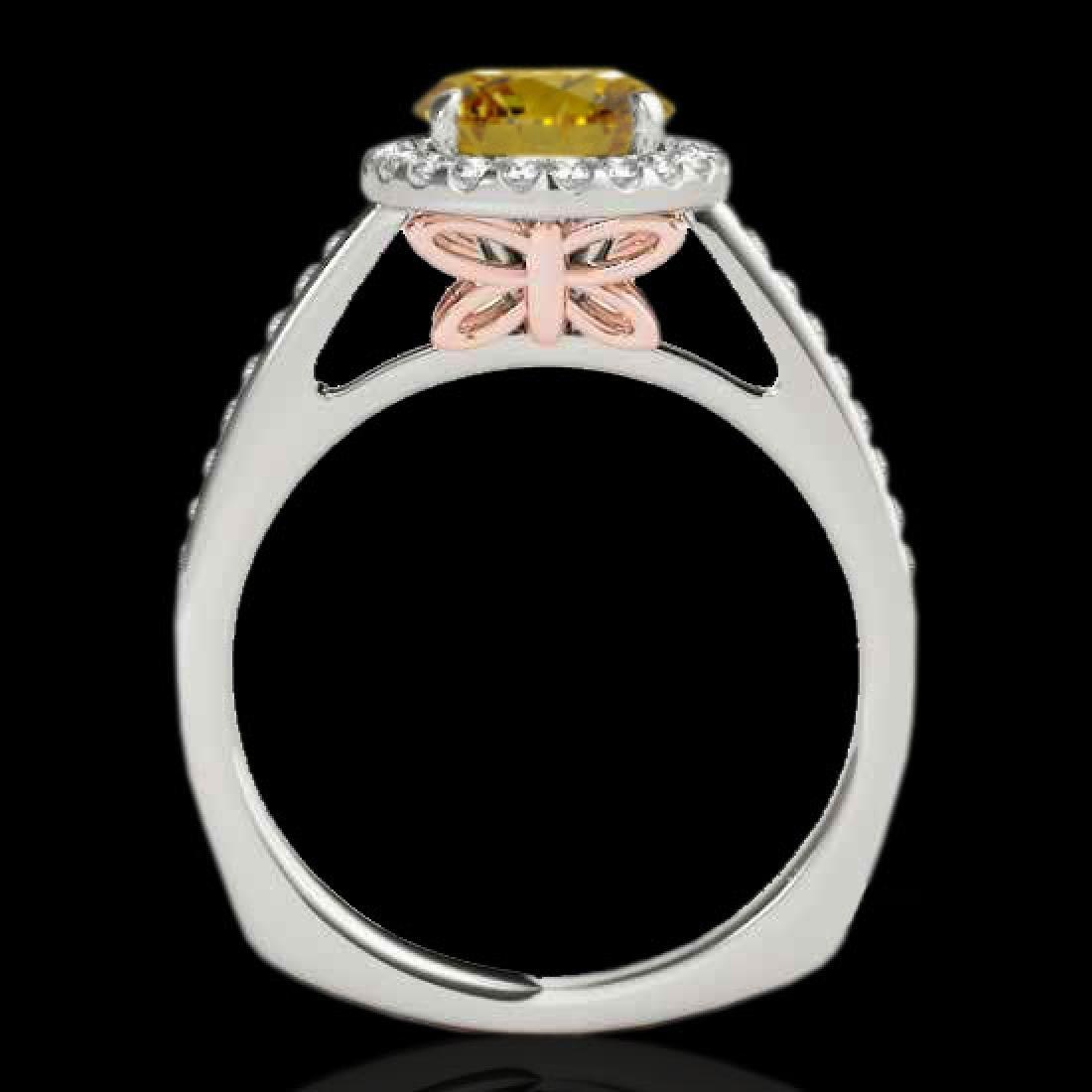 1.3 CTW Certified Si Fancy Intense Diamond Solitaire - 2