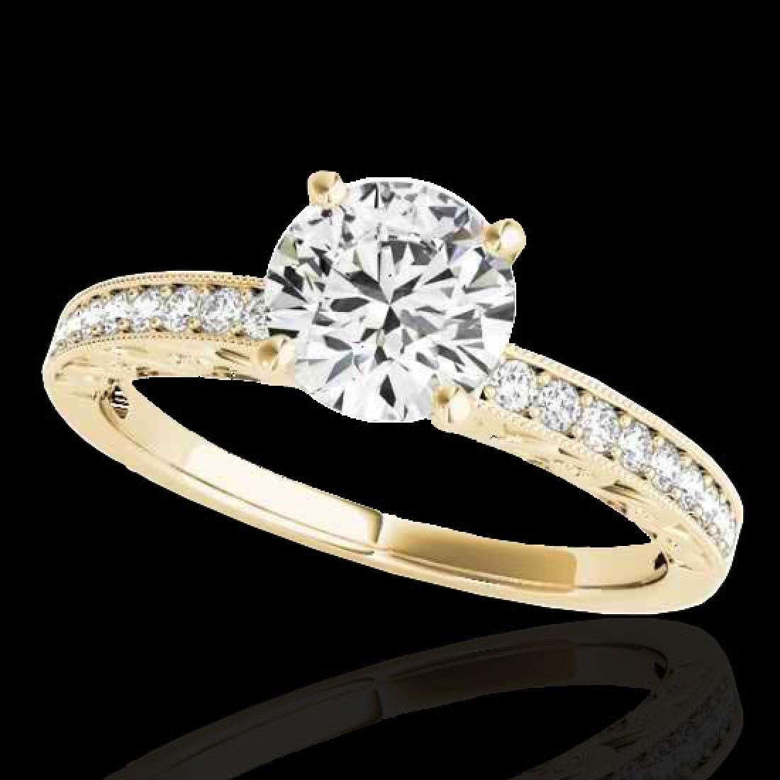 1.43 CTW H-SI/I Certified Diamond Solitaire Antique