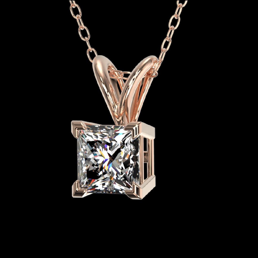 0.50 CTW Certified VS/SI Quality Princess Diamond - 2