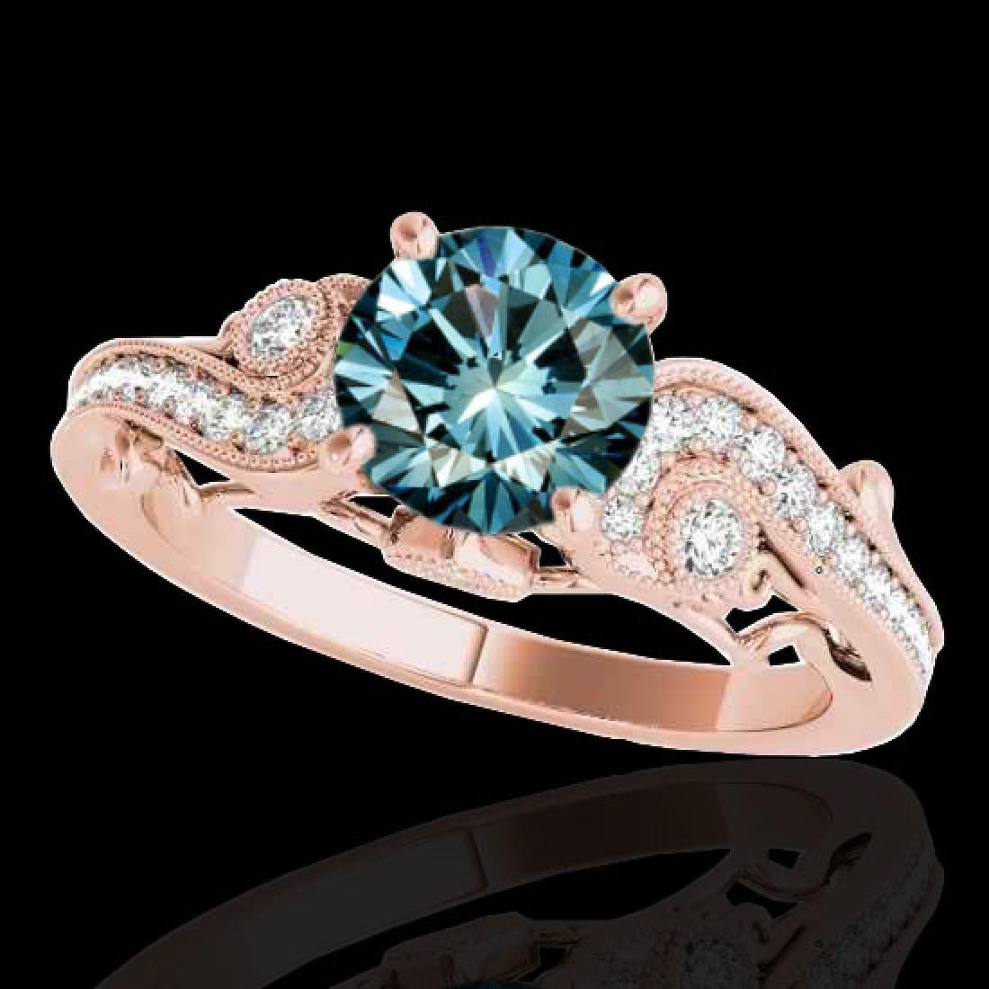 1.25 CTW SI Certified Fancy Blue Diamond Solitaire