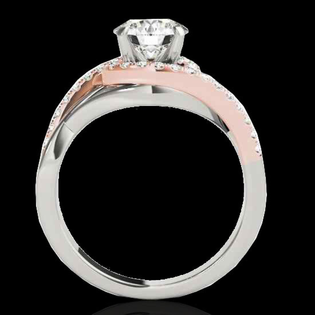 1.55 CTW H-SI/I Certified Diamond Bypass Solitaire Ring - 2