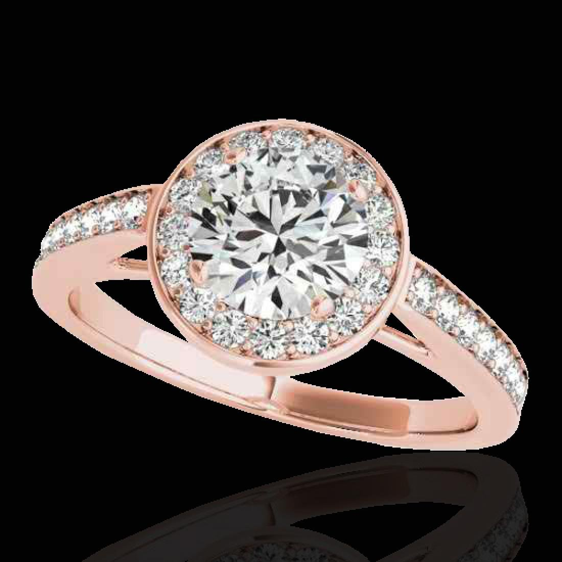 1.45 CTW H-SI/I Certified Diamond Solitaire Halo Ring