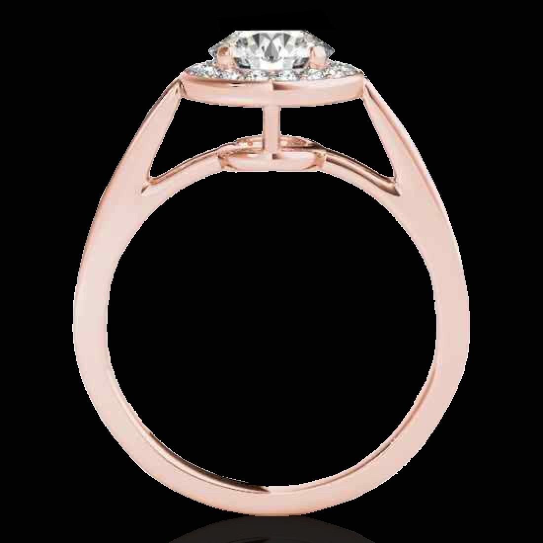 1.45 CTW H-SI/I Certified Diamond Solitaire Halo Ring - 2