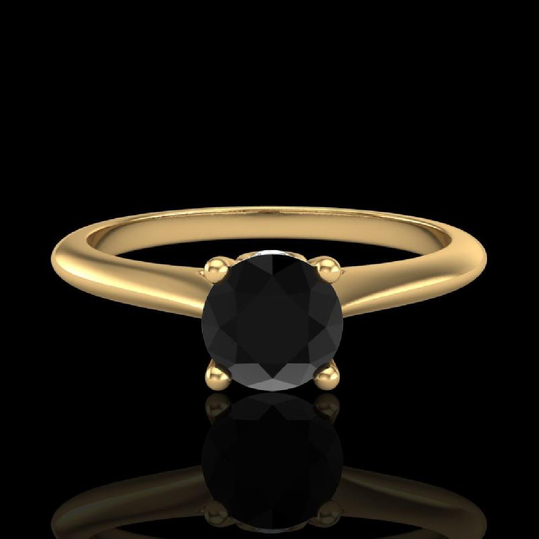 0.56 CTW Fancy Black Diamond Solitaire Engagement Art - 2