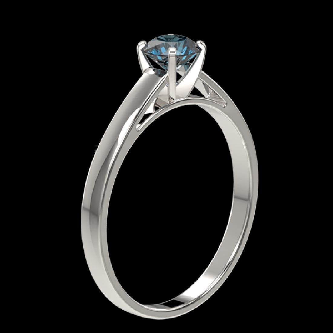 0.50 CTW Certified Intense Blue SI Diamond Solitaire - 3