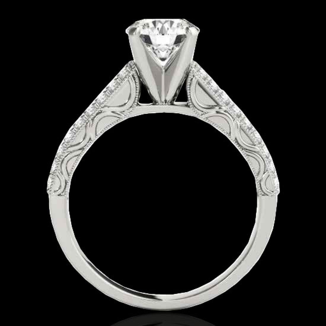 1.41 CTW H-SI/I Certified Diamond Solitaire Antique - 2