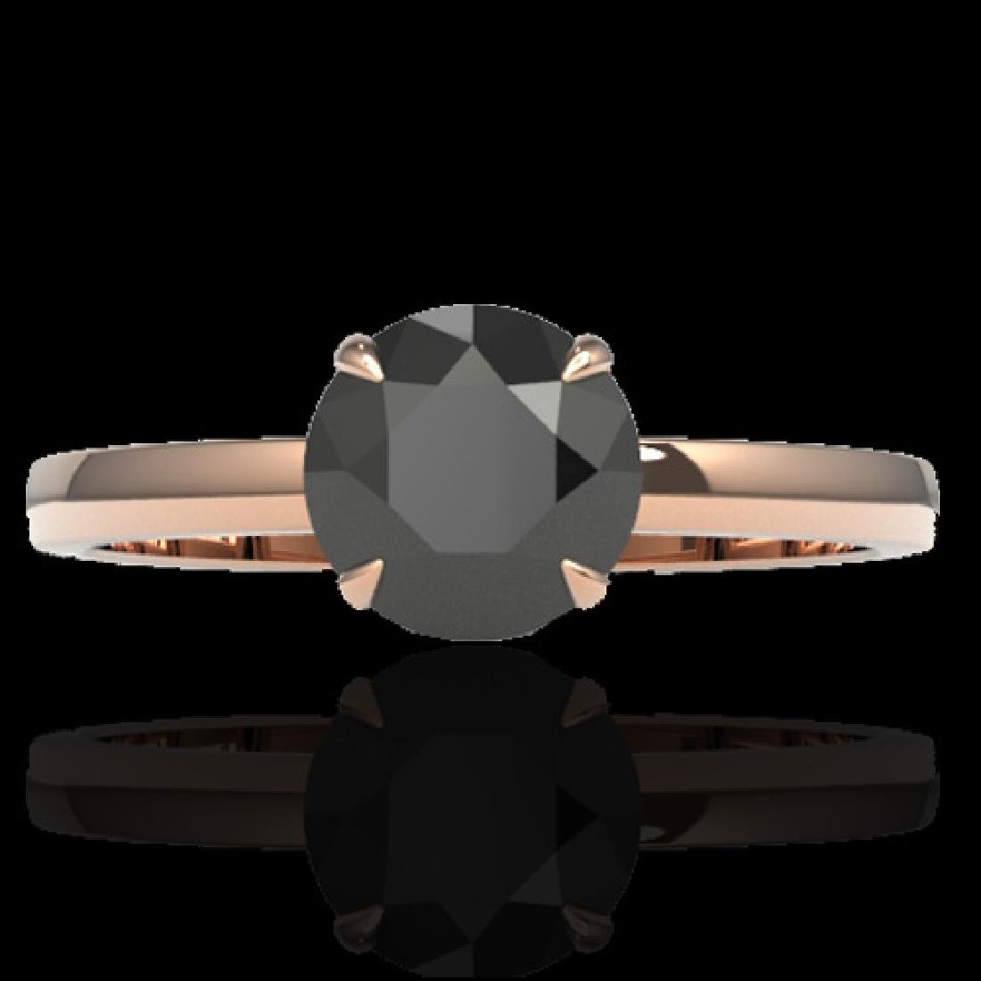2 CTW Black VS/SI Diamond Designer Inspired Engagement