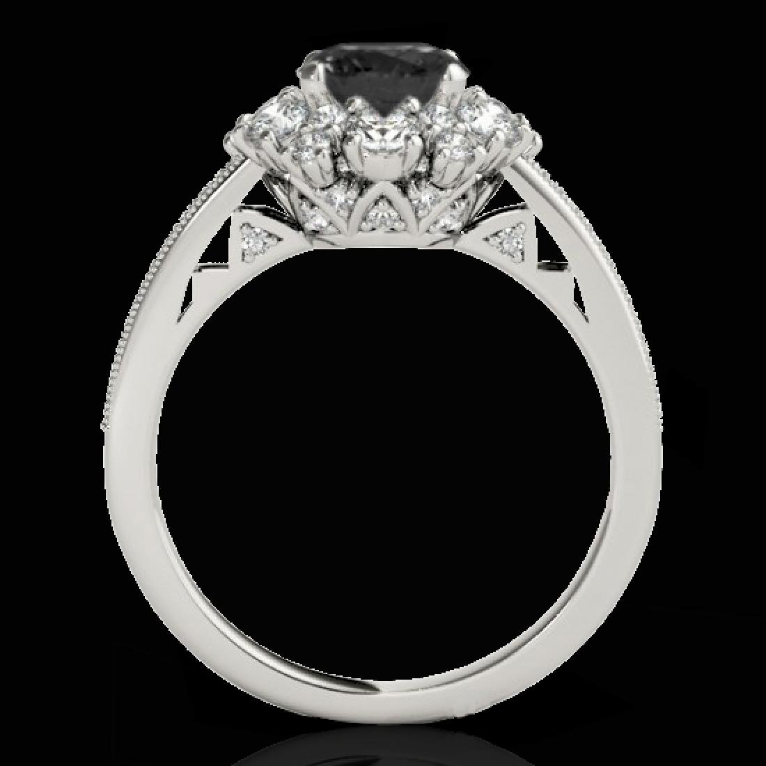 2.16 CTW Certified VS Black Diamond Solitaire Halo Ring - 2