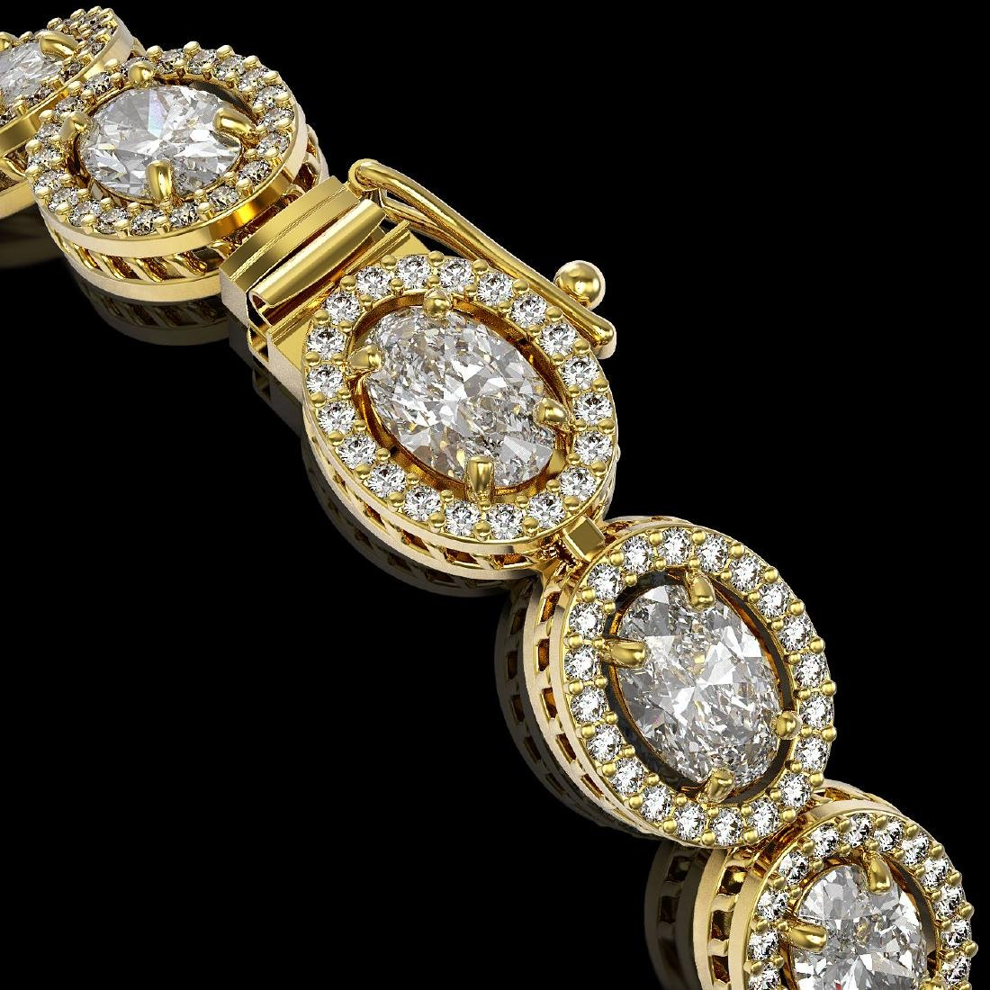 13.25 CTW Oval Diamond Designer Bracelet 18K Yellow - 3