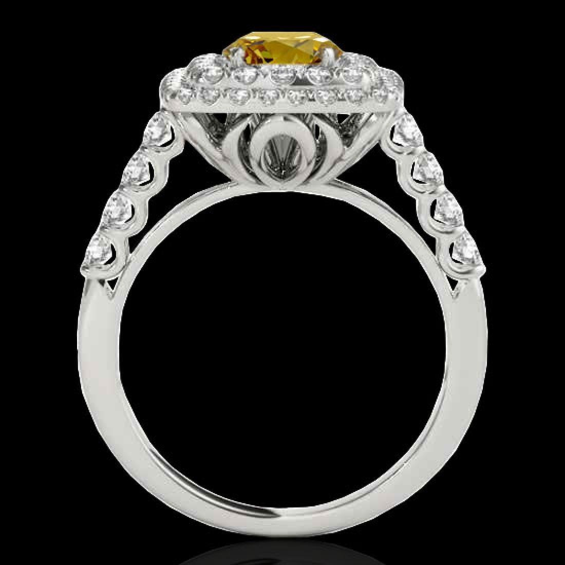 2.3 CTW Certified SI/I Fancy Intense Yellow Diamond - 2