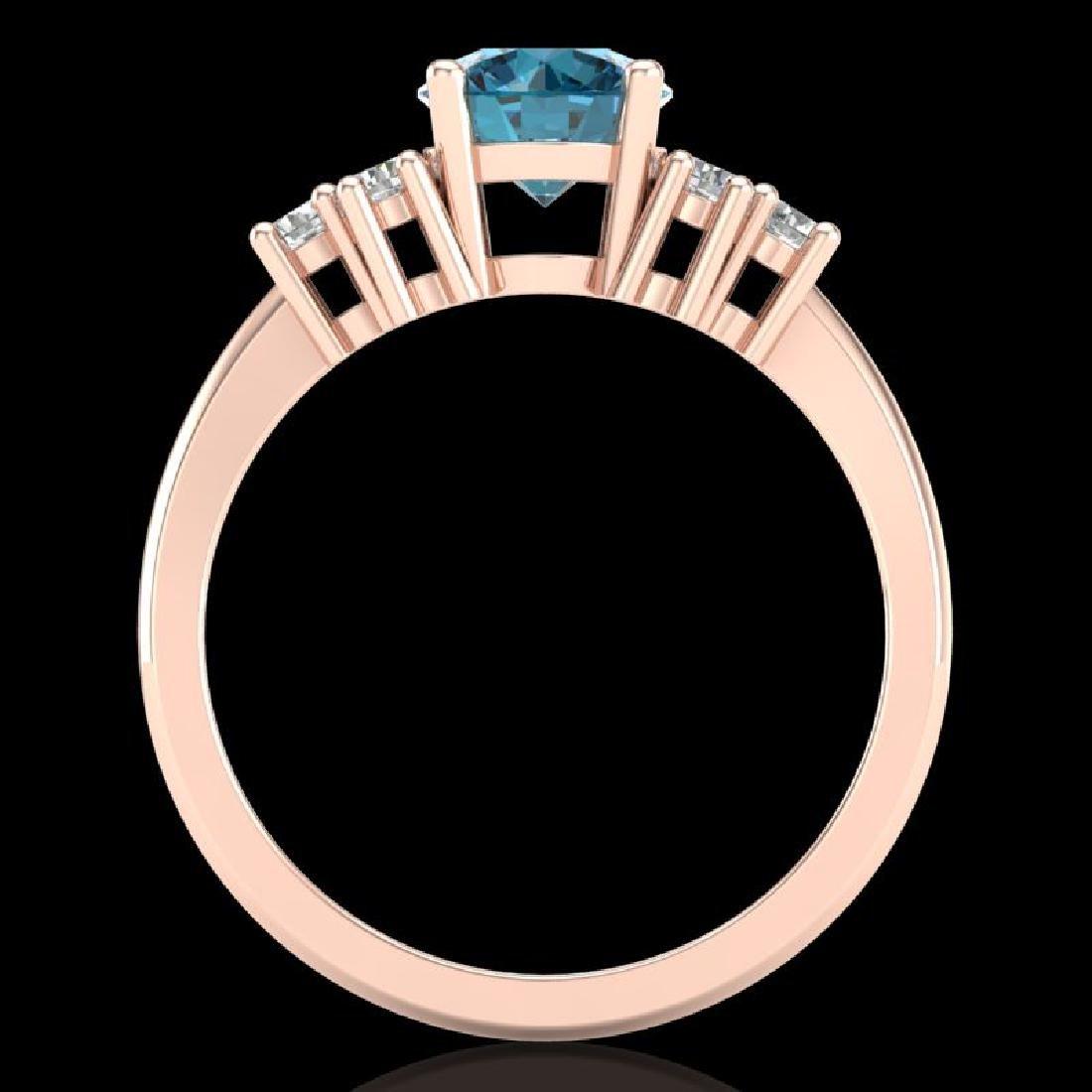1.5 CTW Intense Blue Diamond Solitaire Engagement - 3