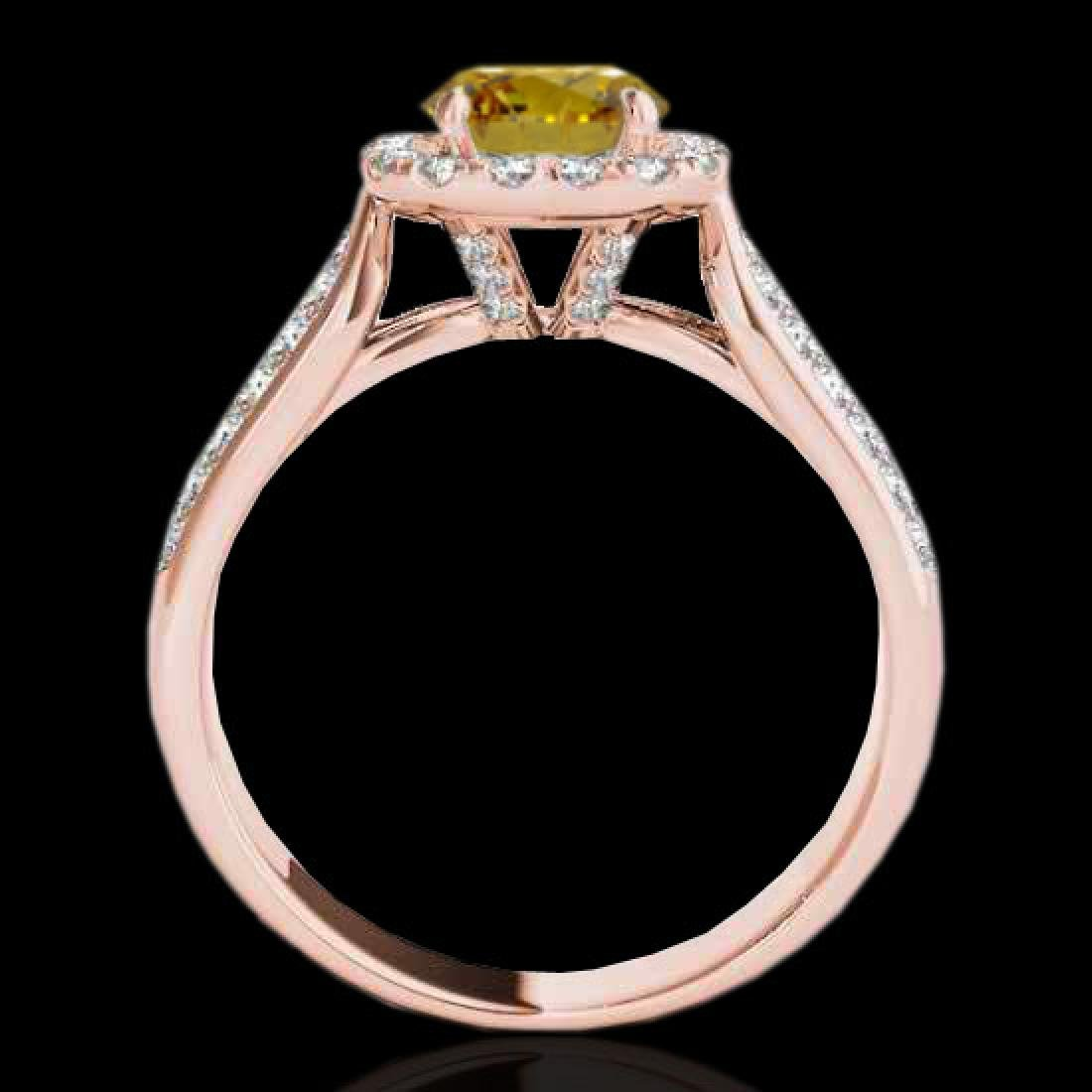 1.8 CTW Certified SI/I Fancy Intense Yellow Diamond - 2