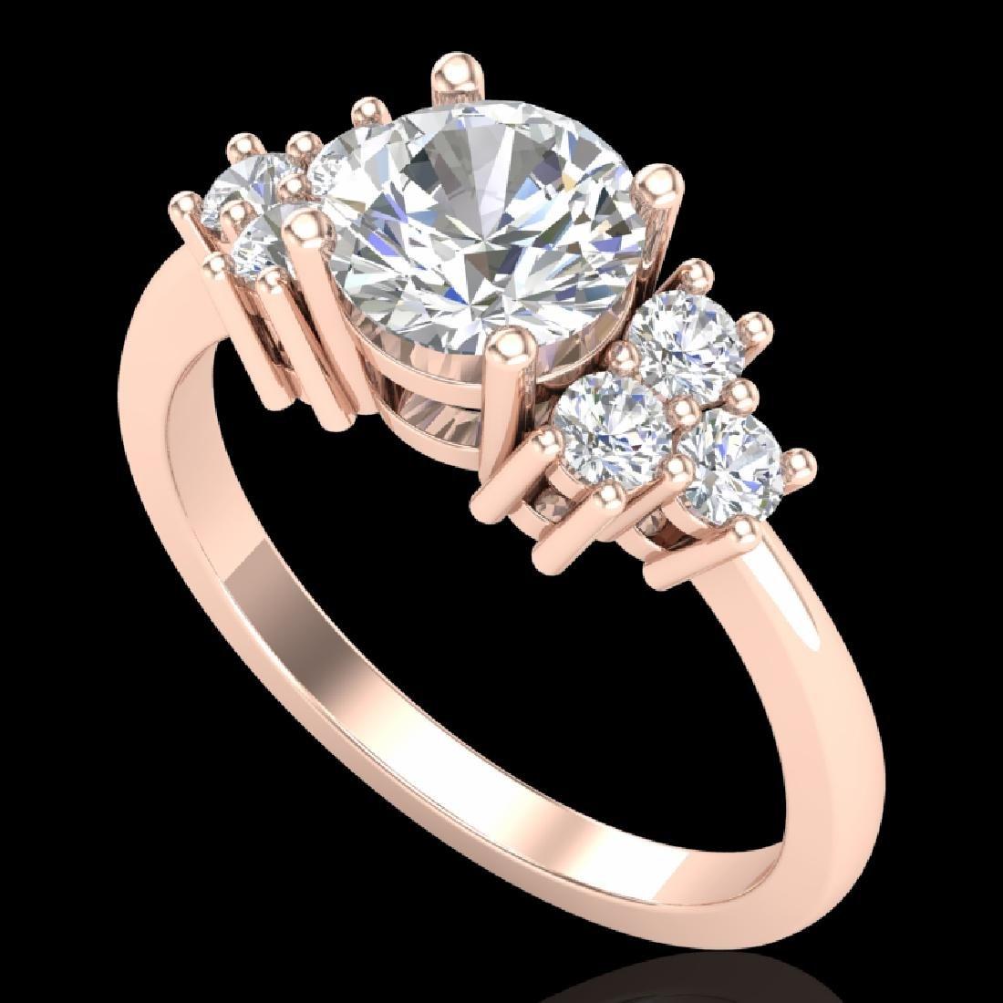 1.5 CTW VS/SI Diamond Solitaire Ring 18K Rose Gold