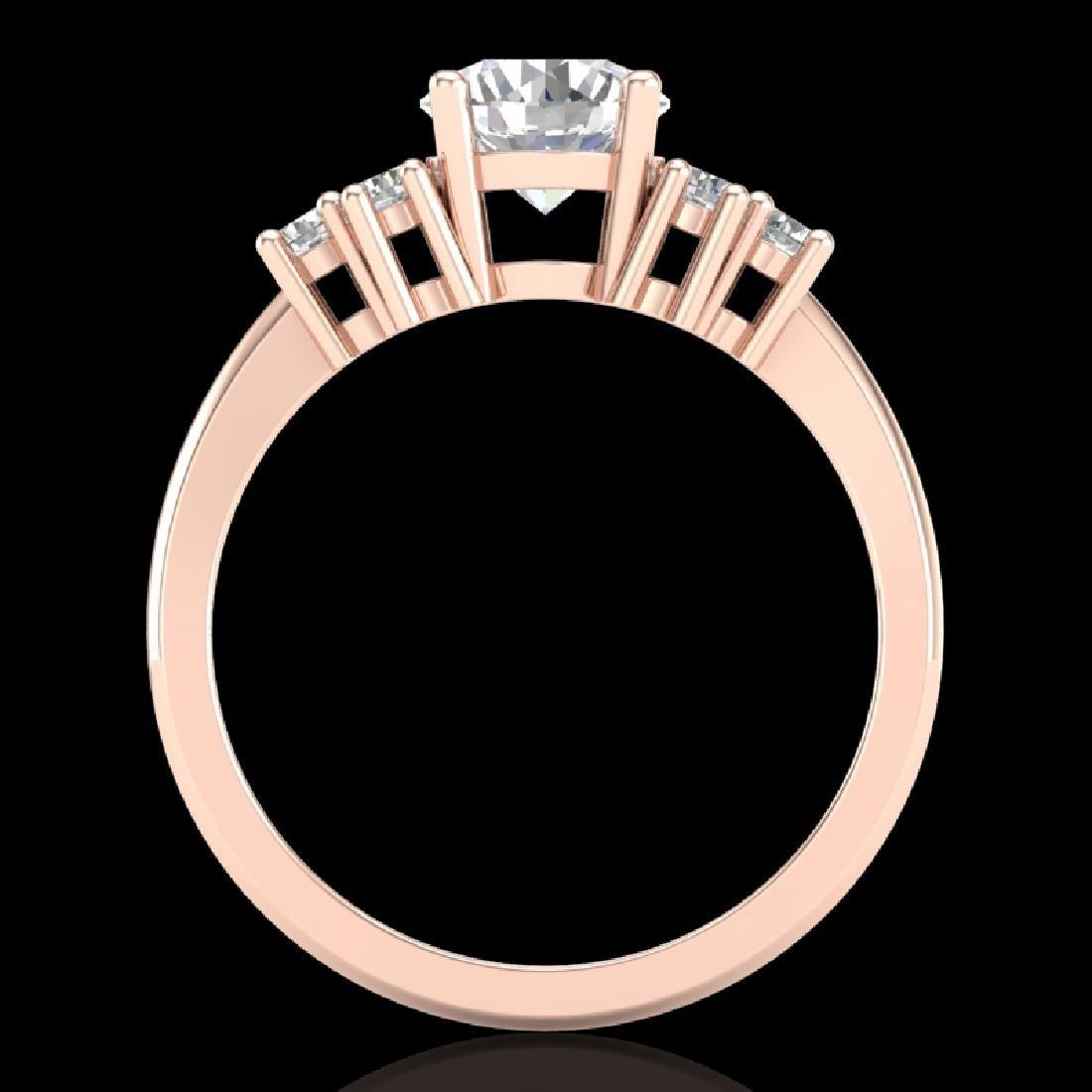 1.5 CTW VS/SI Diamond Solitaire Ring 18K Rose Gold - 2