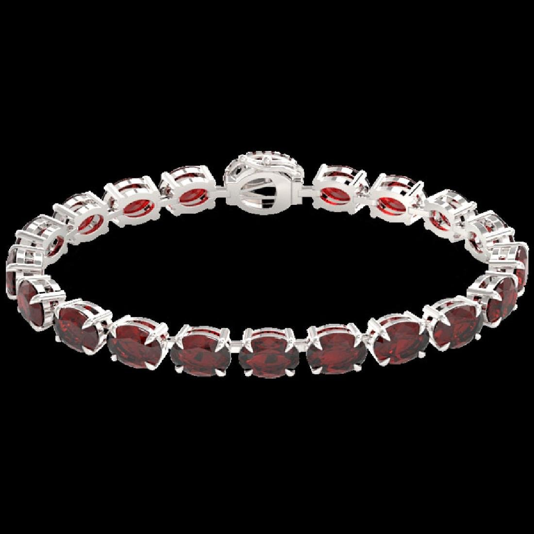 19.25 CTW Garnet & VS/SI Diamond Eternity Tennis Micro - 2