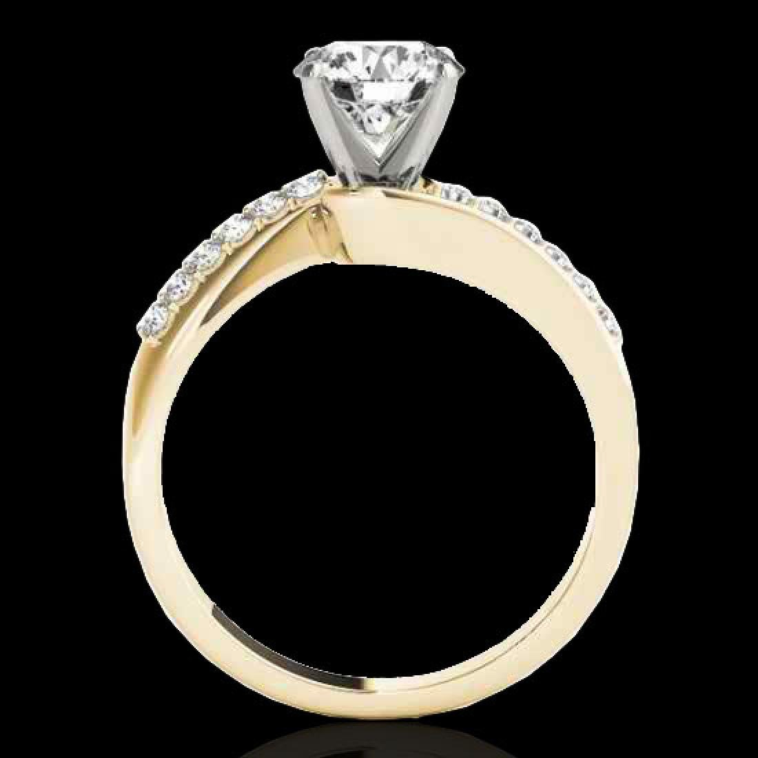 1.4 CTW H-SI/I Certified Diamond Bypass Solitaire Ring - 2