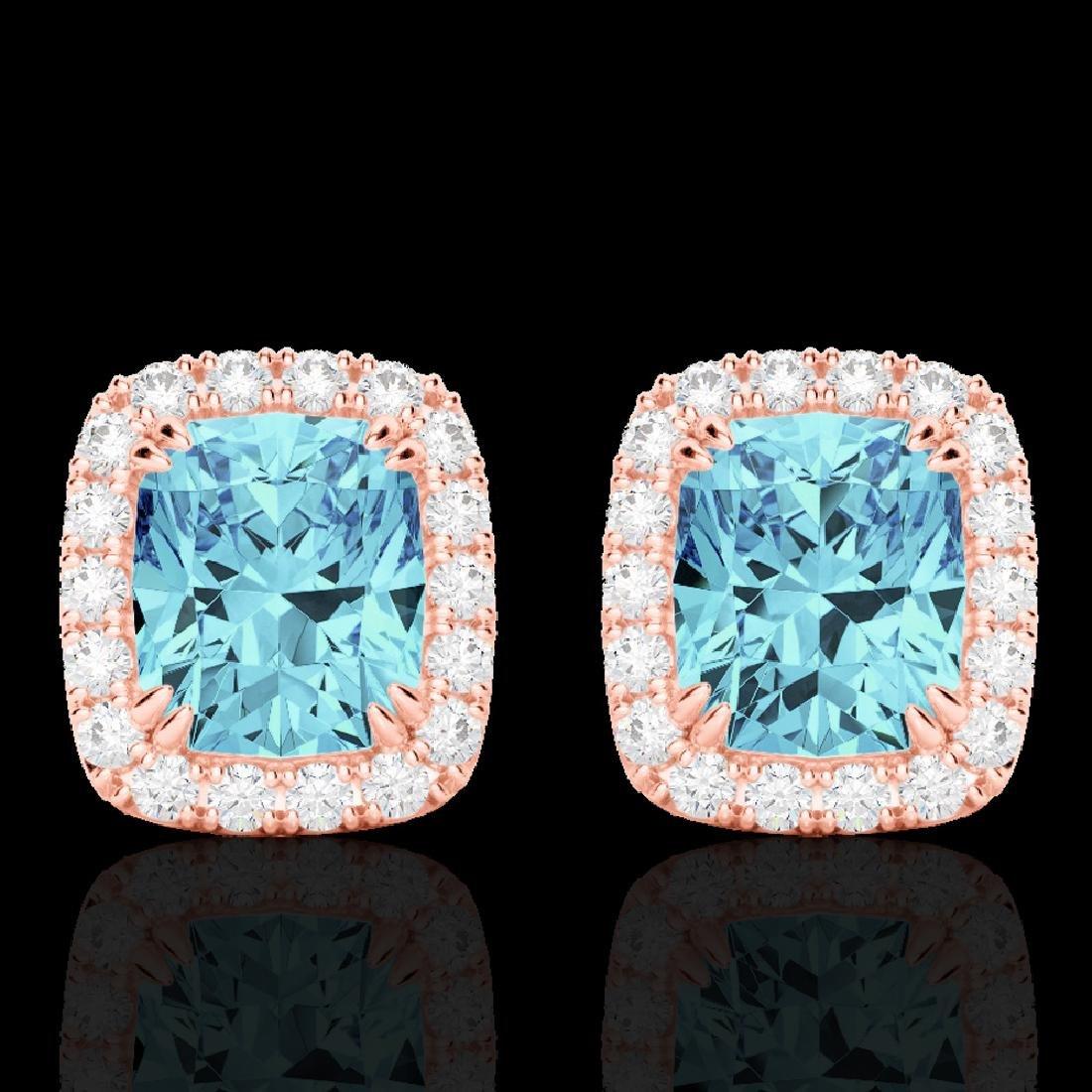 2.50 CTW Sky Blue Topaz & Micro VS/SI Diamond Halo