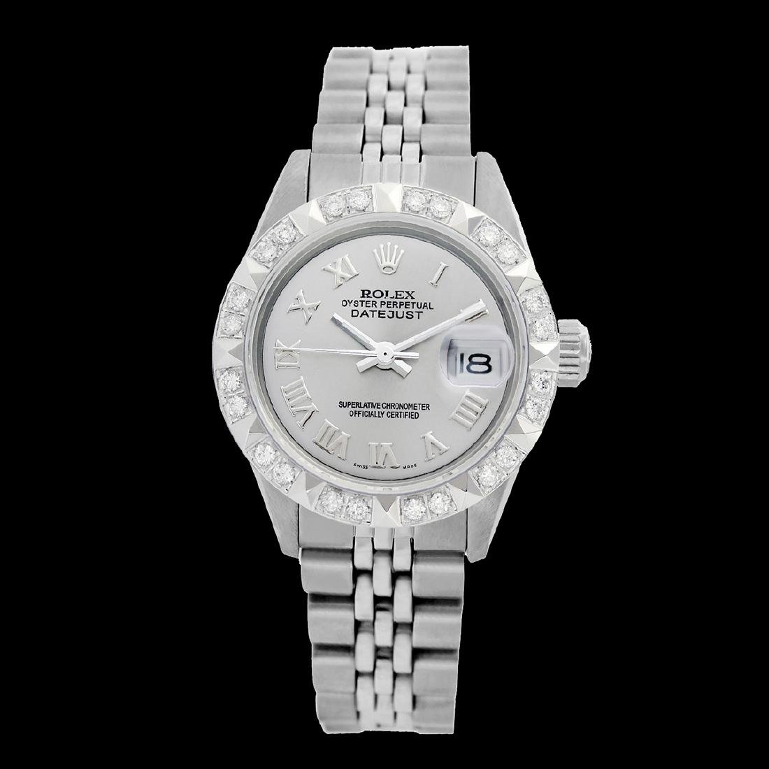 Rolex Ladies Stainless Steel, Roman Dial with Pyrimid - 2
