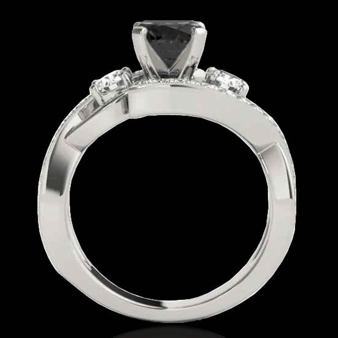 2.26 CTW Certified VS Black Diamond Bypass Solitaire - 2