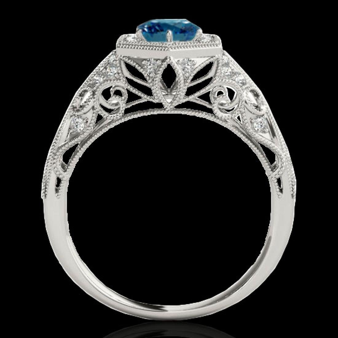 1.4 CTW SI Certified Fancy Blue Diamond Solitaire - 2