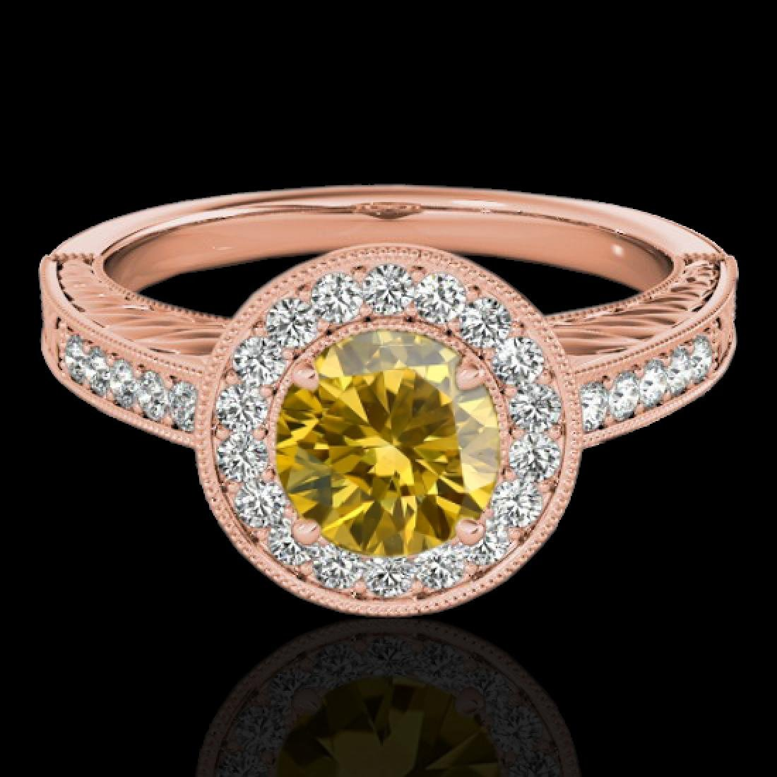 1.5 CTW Certified SI/I Fancy Intense Yellow Diamond