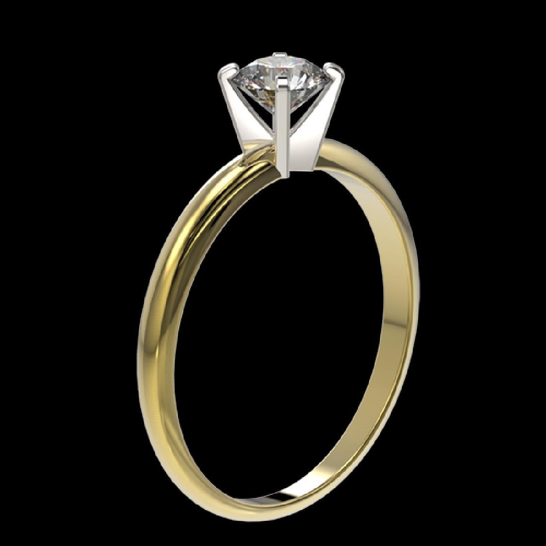 0.52 CTW Certified H-SI/I Quality Diamond Solitaire - 3