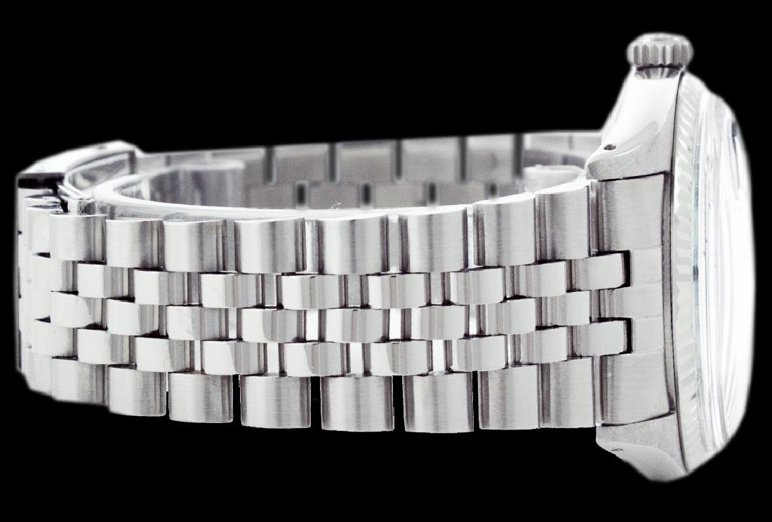 Rolex Ladies Stainless Steel, Diamond Dial with Fluted - 2