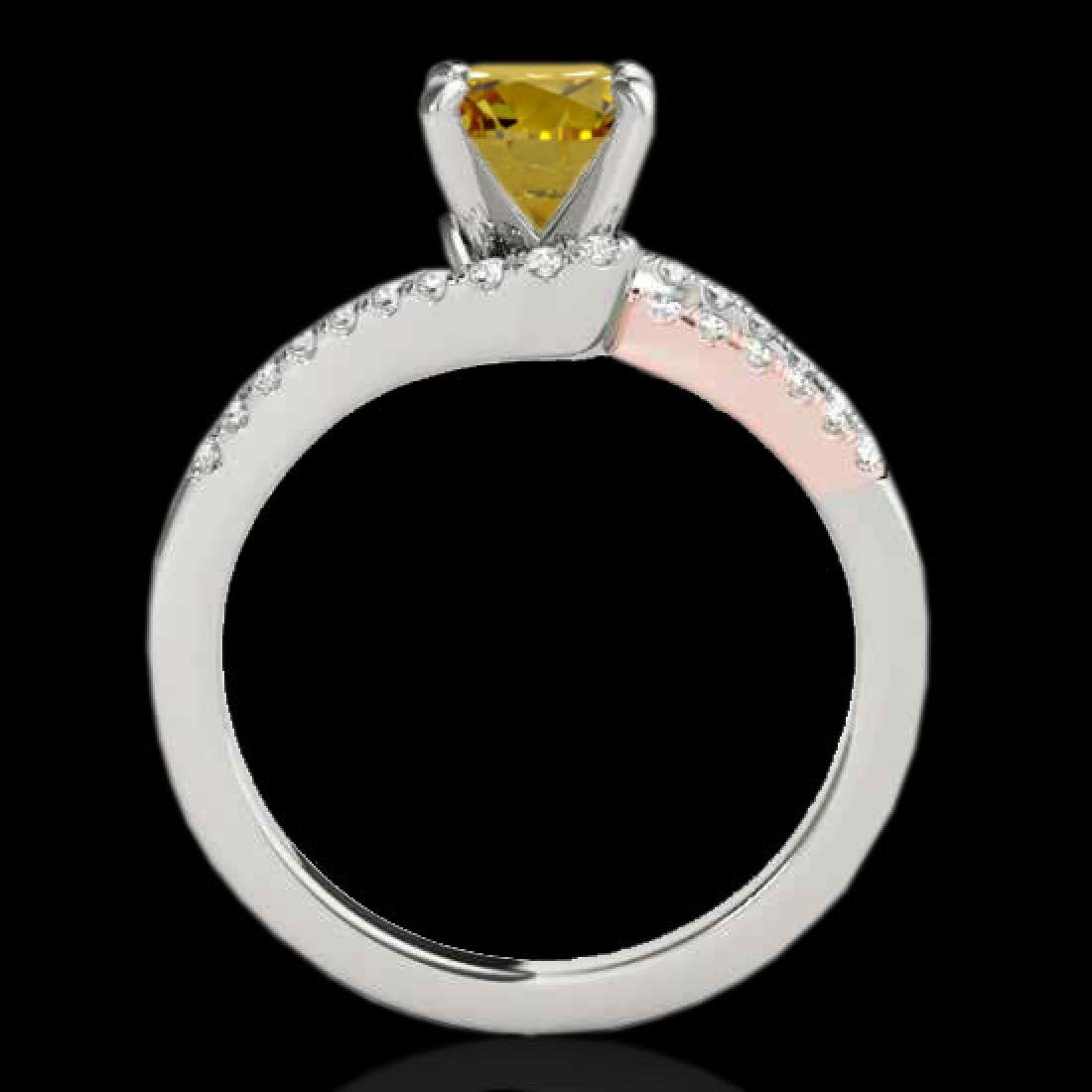 1.65 CTW Certified Si Intense Yellow Diamond Solitaire - 2