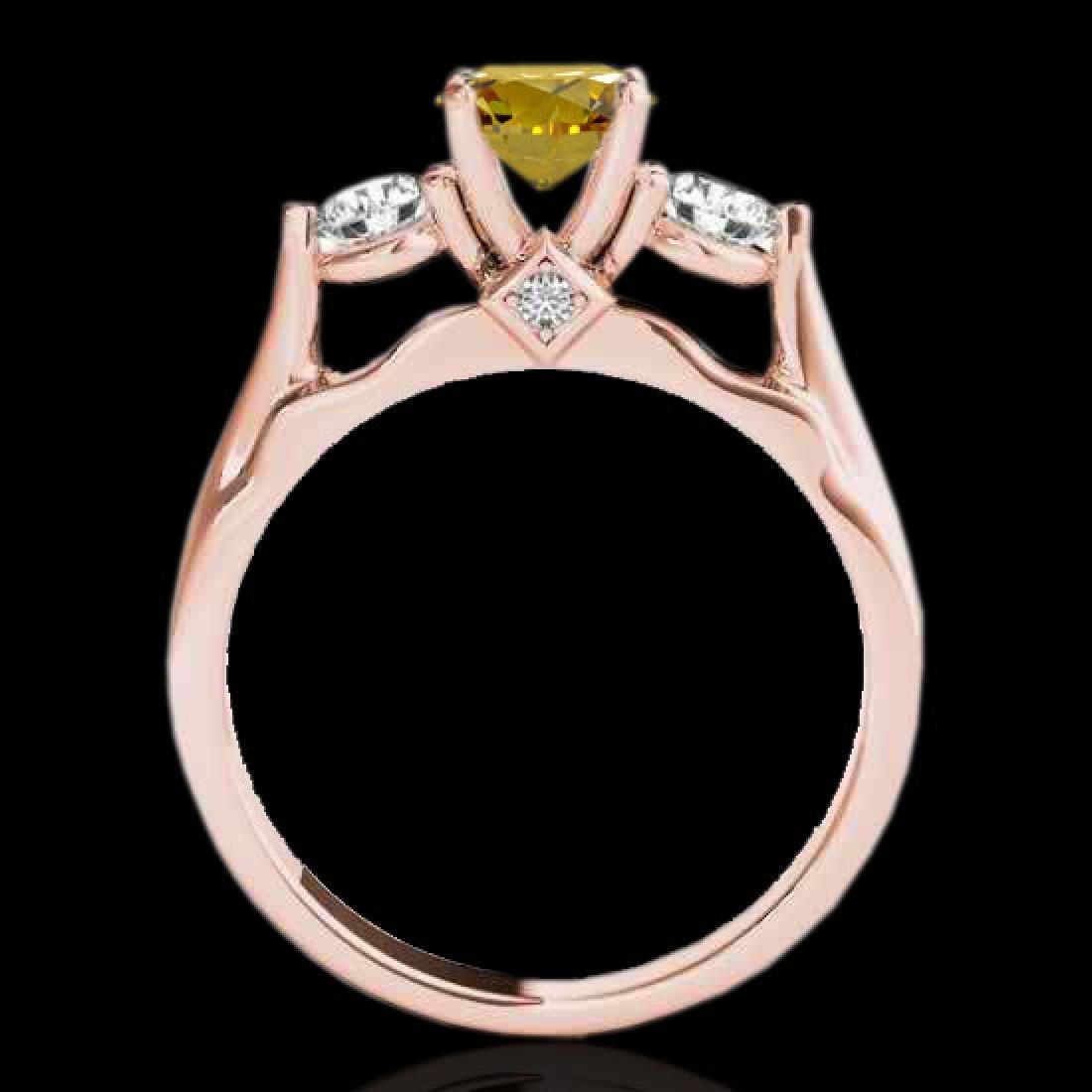 1.5 CTW Certified Si Intense Yellow Diamond 3 Stone - 2