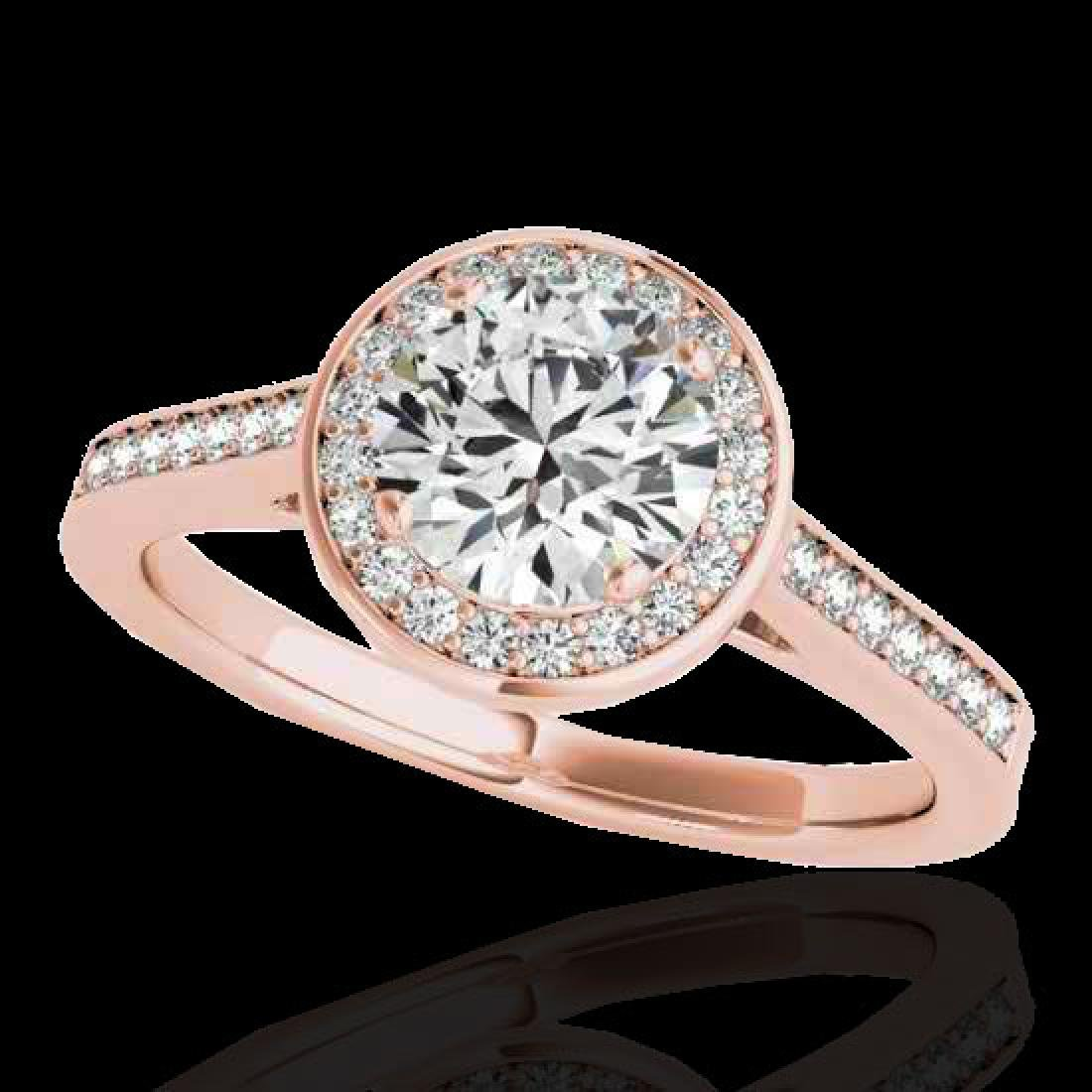 1.93 CTW H-SI/I Certified Diamond Solitaire Halo Ring