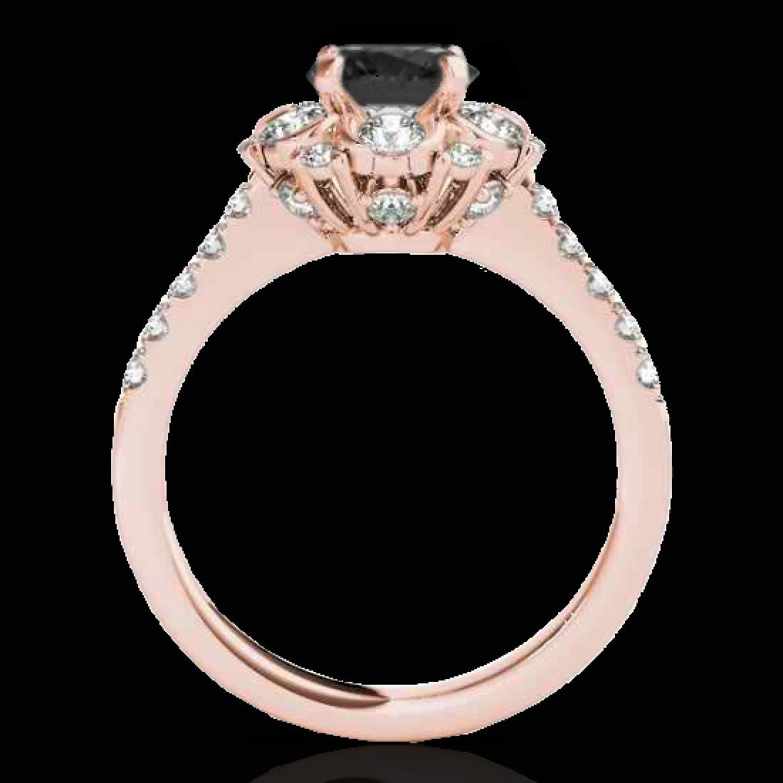 2.05 CTW Certified VS Black Diamond Solitaire Halo Ring - 2