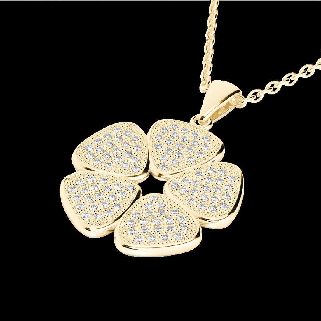 0.80 CTW Micro Pave VS/SI Diamond Designer Necklace 14K