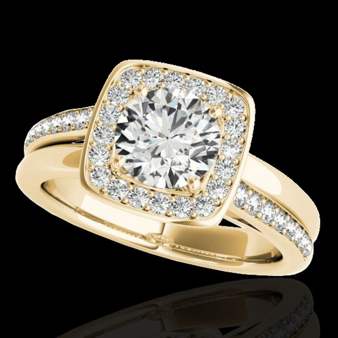 1.33 CTW H-SI/I Certified Diamond Solitaire Halo Ring