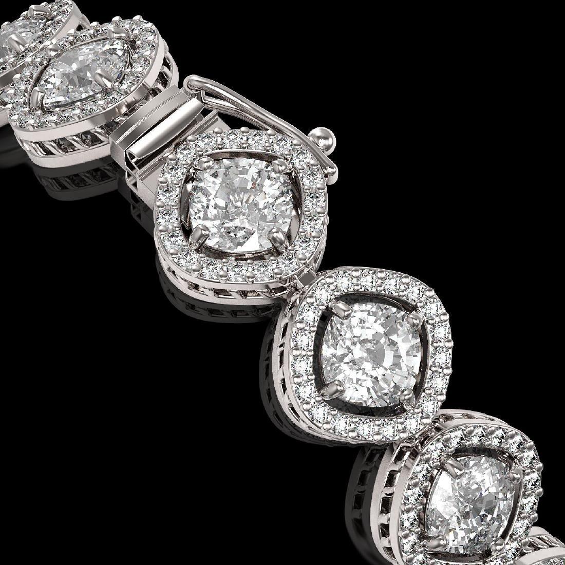 13.06 CTW Cushion Cut Diamond Designer Bracelet 18K - 3