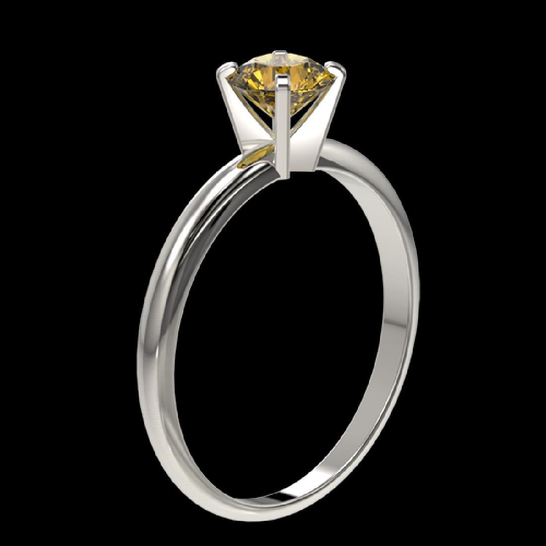 0.76 CTW Certified Intense Yellow SI Diamond Solitaire - 3