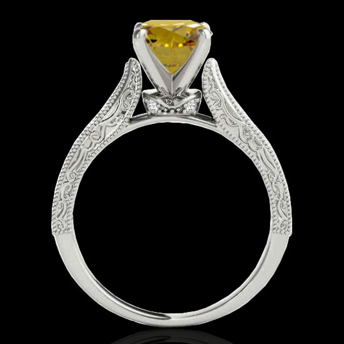 1.21 CTW Certified Si Intense Yellow Diamond Solitaire - 2