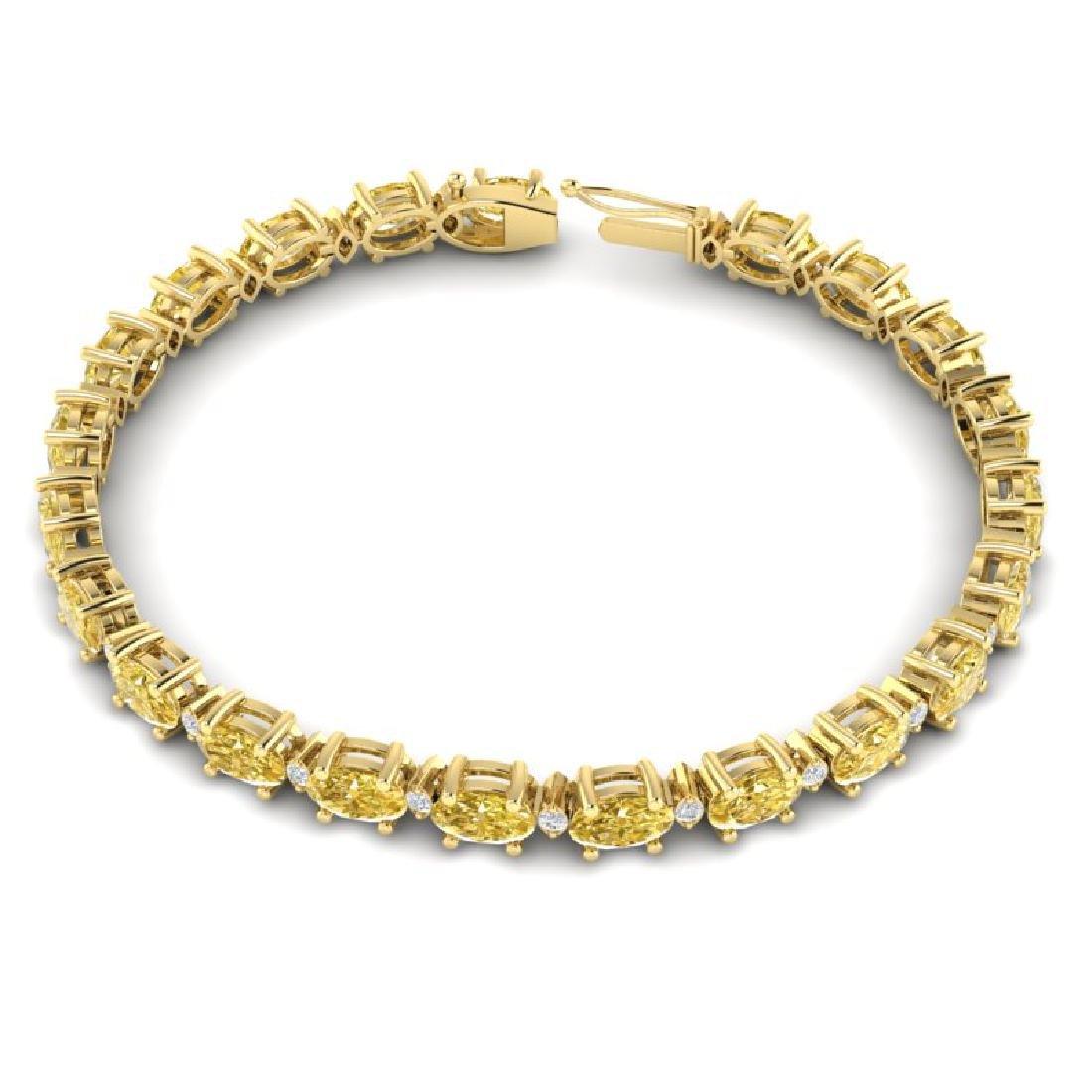 12 CTW Citrine & VS/SI Diamond Eternity Bracelet 10K - 3