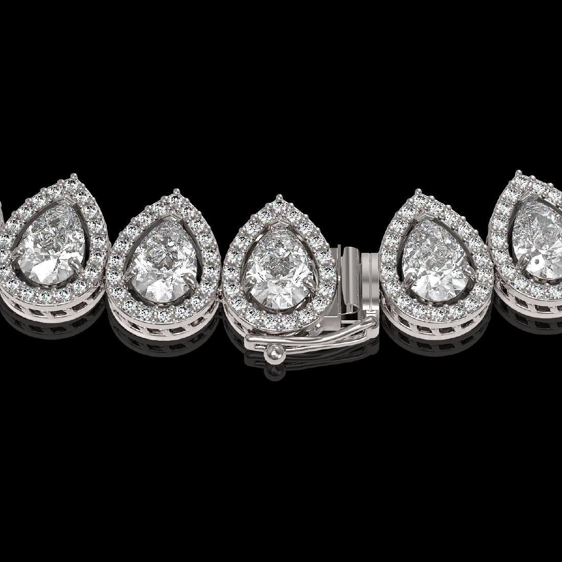 34.83 CTW Pear Diamond Designer Necklace 18K White Gold - 3