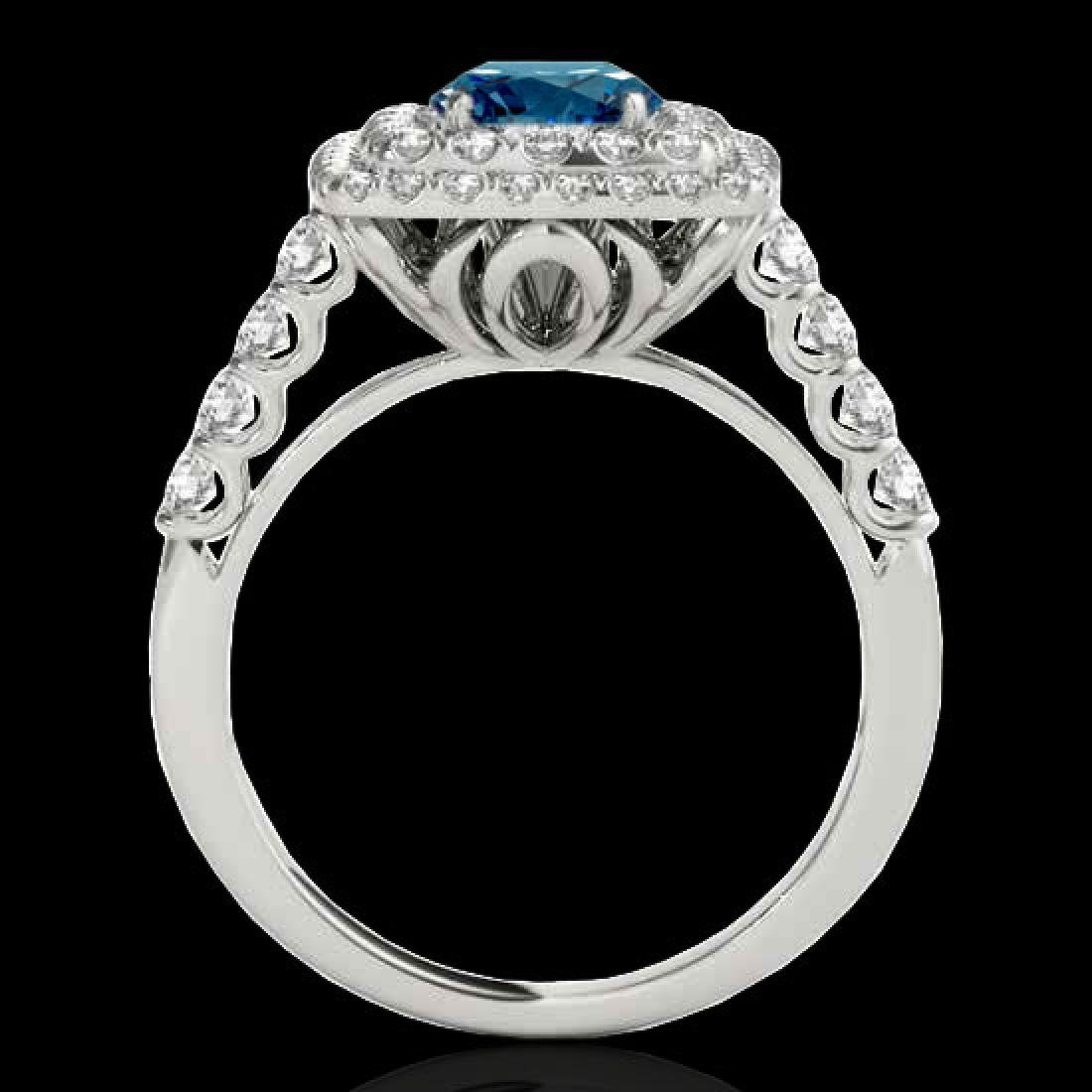 2.3 CTW SI Certified Fancy Blue Diamond Solitaire Halo - 2