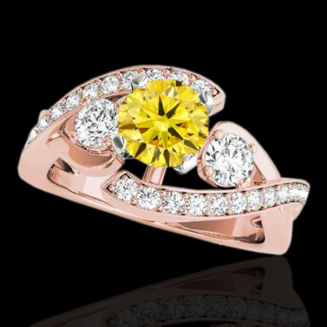 1.76 CTW Certified Si Intense Yellow Diamond Bypass