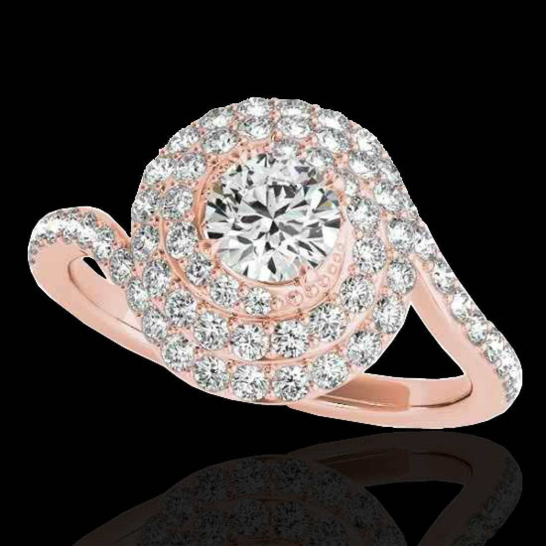 2.11 CTW H-SI/I Certified Diamond Solitaire Halo Ring