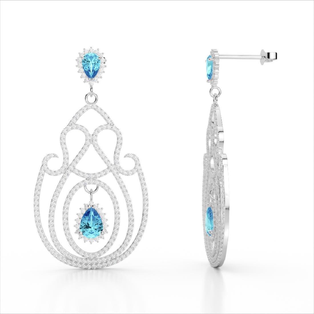 6.40 CTW Topaz & Micro Pave VS/SI Diamond Designer - 3