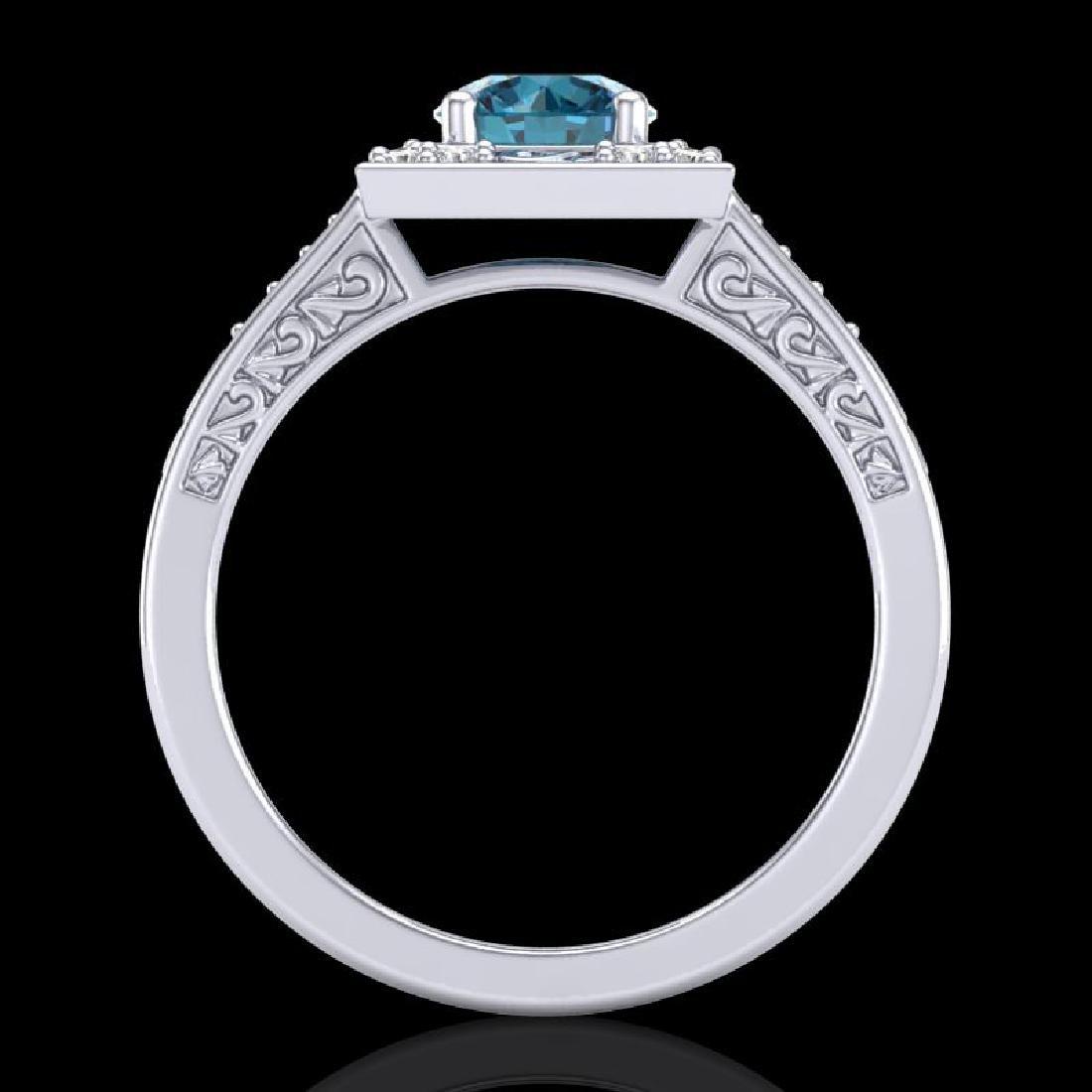 1.1 CTW Intense Blue Diamond Solitaire Engagement Art - 3