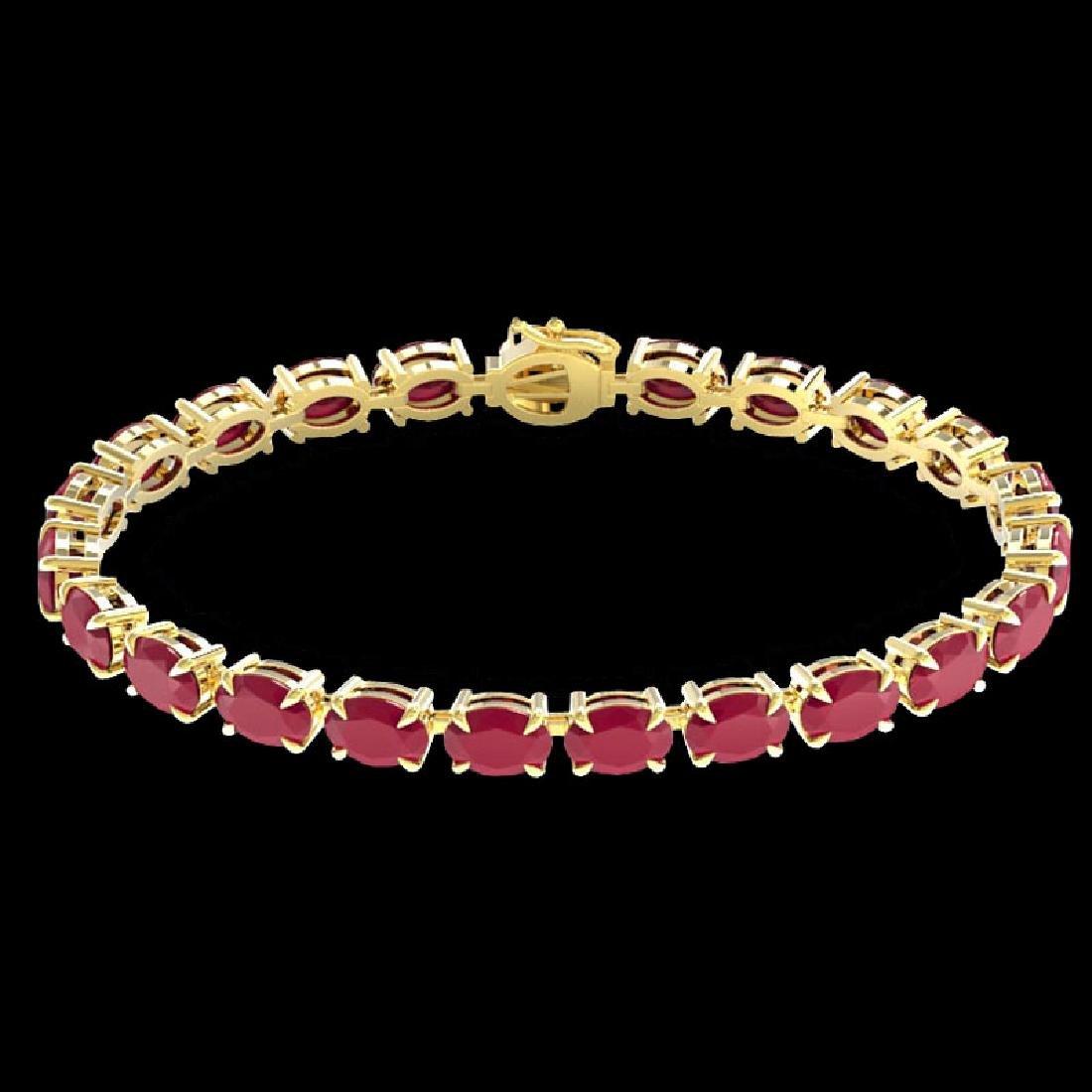 29 CTW Ruby Eternity Designer Inspired Tennis Bracelet - 2