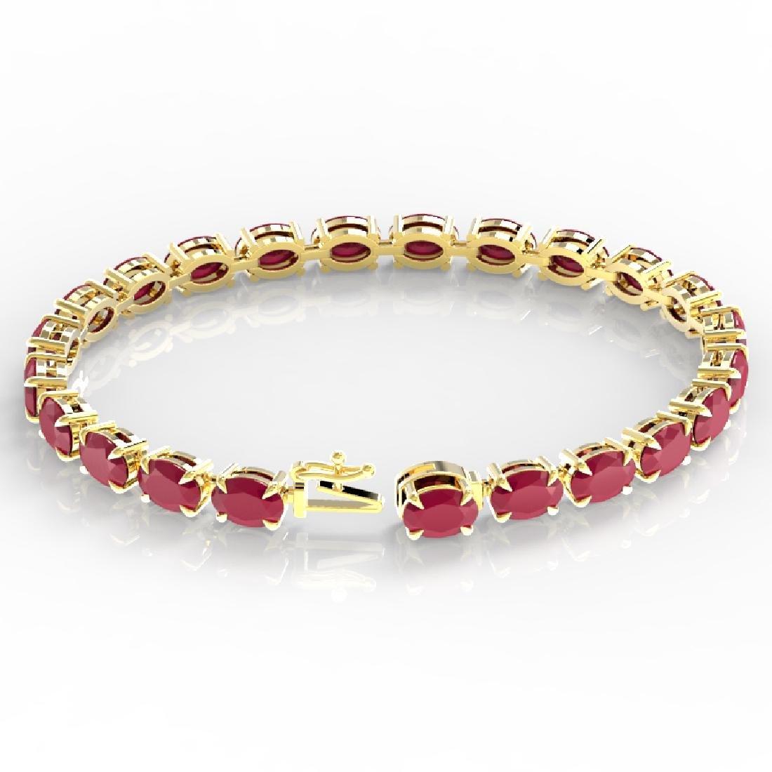 29 CTW Ruby Eternity Designer Inspired Tennis Bracelet - 3