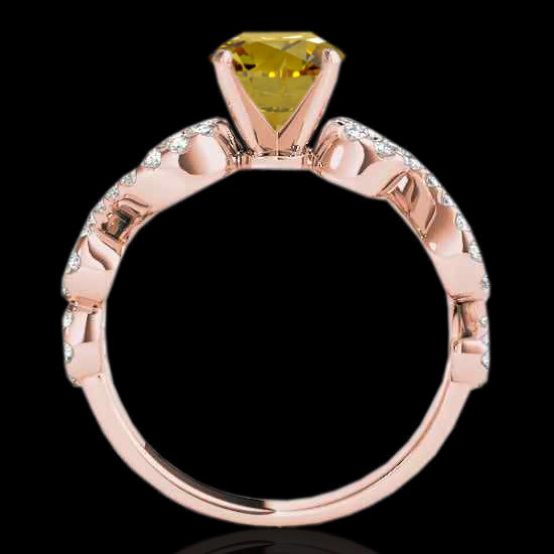 1.4 CTW Certified SI/I Fancy Intense Yellow Diamond - 2
